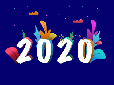 Happy New Year 2020 - Poster Design