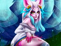 Spirit Blossom Ahri | LOL artworks game art drawing pinup sexy girl sexy girls pinup girl artwork lol ahri