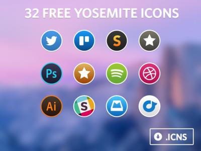 Yosemite Icon Set