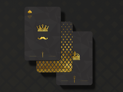 Deck of cards minimal typography vector flat illustration design