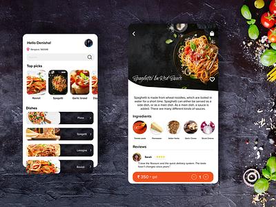 Resturant app UI typography branding minimal ui design