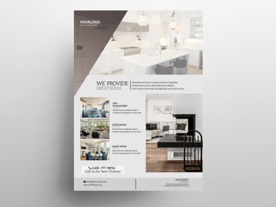 Real Estate Free PSD Flyer Template free psd flyer template free business flyer psd clean flyer real estate