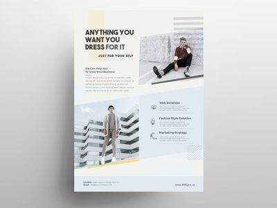 Minimal Fashion Event Free PSD Flyer Template template free psd flyer flyer design fashion flyer poster flyer