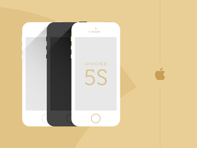 iPhone 5S - Flat Vector Design web app adobe xd figma wireframe interface template mockup layout concept creative flat ui design dailyui ui vector smartphone cellphone mobile iphone