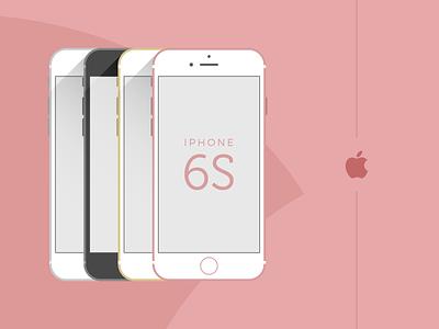 iPhone 6S - Flat Vector Design web app adobe xd figma wireframe interface template mockup layout concept creative flat ui design dailyui ui vector smartphone cellphone mobile iphone