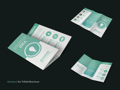 StartUp - A4 Trifold Brochure Template presentation marketing brand identity ecommerce business company agency print-ready cmyk social people portfolio startup catalogue flyer booklet brochure 3fold trifold a4