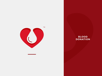 Blood Donation Logo branding identity avatar symbol mark logo medicine ambulance hospital health help care first aid heart cross red charity donor donation blood