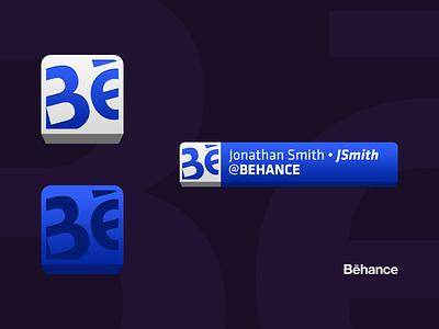 Behance Button + Lower Third vector web app dailyui ui design uiux ui email signature social media marketing branding behance lower third shape label icon tab button isometric 3d