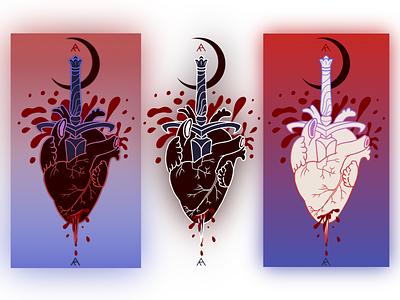 Tattoo design tattoo art tattoo dagger heart design aesthetic digital art digital illustration