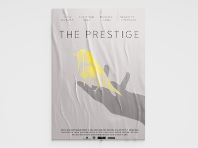 Movie poster hand bird theprestige photoshop art illustration design movie ad poster movieposter