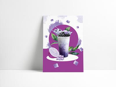 Bubble tea adobe photoshop bubbletea bubble tea advertising print poster art illustration design