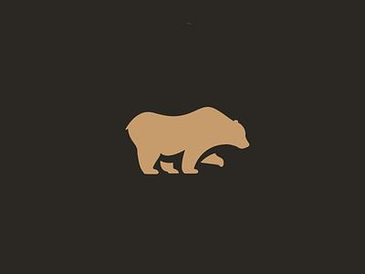 Golden Bear bear animal logo gold