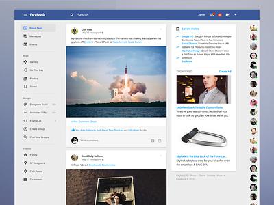 Facebook goes material. ui google material design facebook