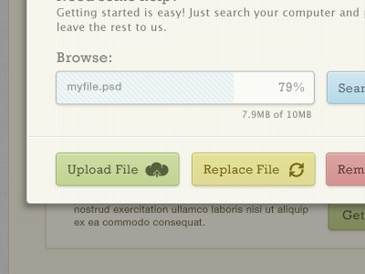 Upload upload browse buttons ui website