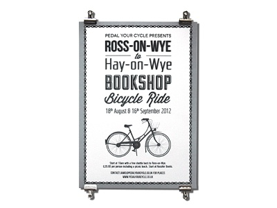 Bookshop Bicycle Ride Poster poster poster design graphic design typography bicycle