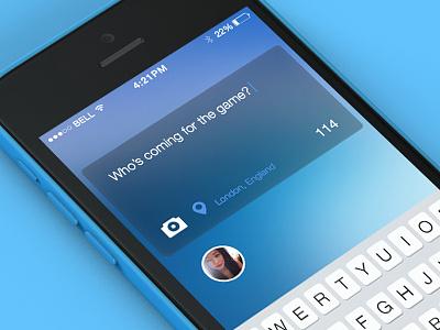 Cast design app iphone appdesign ux ui cast twitter message avi client fliite