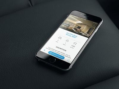Property Page ui user interface ios app mobile mobile ui ios app app design photos explore property house