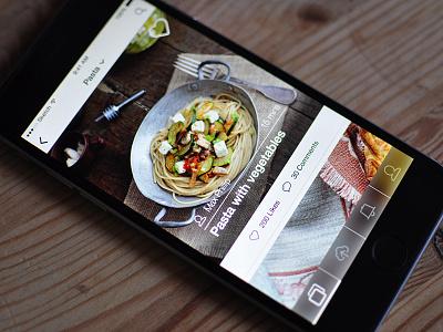 Food App ui user interface ios app mobile mobile ui ios app app design food photos explore feed