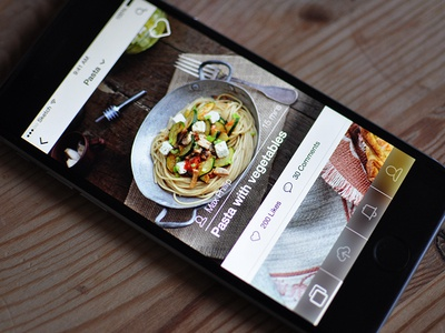 Food App ui user interface ios app mobile mobile ui ios app app design food photos explore feed