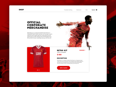 LFC Shop ecommerce shop store website sports red soccer football lfc liverpool