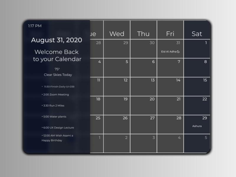 Daily UI 038 minimal navy blue blue gray desktop ui desktop app desktop simple august clean calendar clean ui clean calendar design calendar app calendar ui calender daily ui 38 daily ui 038 dailyuichallenge daily ui