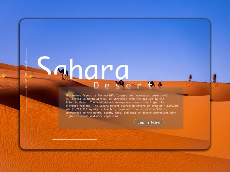Daily UI 045 simple desktop app desktop userexperience userinterface uiux ux ui blue orange sahara desert sahara desert info card design info card ui info card daily ui 45 daily ui 045 daily ui dailyuichallenge