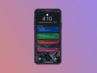 Daily UI 049 social media mobile mobile ui user experience userinterface figmadesign figma uiux ux ui ios apple iphone notification center notifications ui notifications daily ui 49 daily ui 049 daily ui dailyuichallenge