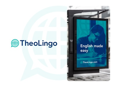 TheoLingo Logo global brand identity translation language identity logo design branding brand logo