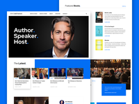Homepage Concept new york media speaker author grid homepage web design ui website web