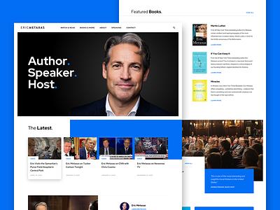 Homepage Concept new york media speaker author grid homepage web design ui website web