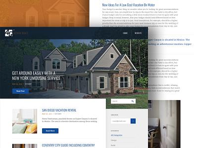 Home Builder Blog home builder grid layout blog web design webpage website web