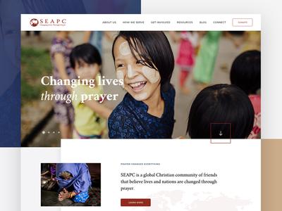Nonprofit Homepage web design clean ui grid nonprofit homepage website web