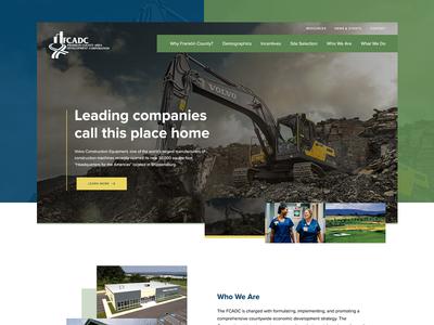 Franklin County PA Economic Development Homepage pennsylvania local design grid clean development economic business homepage website