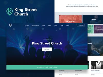 Church Branding + Web clean design homepage church logo branding website web