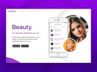 Bloom'd App Homepage