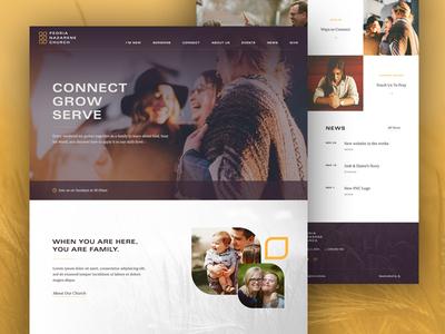 Peoria Nazarene Homepage nazarene peoria church ui ux homepage web design layout clean web website