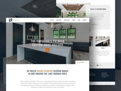 4G Design Build Homepage charlotte construction homebuilder ux clean ui flat grid homepage web design web website