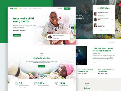 Cure.org Homepage kids cure ux ui nonprofit homepage responsive layout web design web website