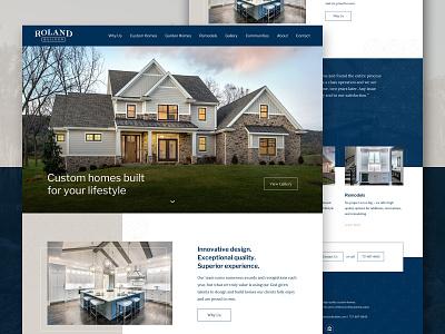 Homebuilder Homepage landing custom homes homebuilder ui ux clean homepage layout web design web website