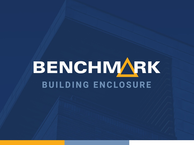 Benchmark Logo building corporate identity identity logo design benchmark branding logo