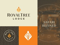 Royal Tree Lodge Brand branding design royal leaf africa safari lodge logodesign identity branding logo
