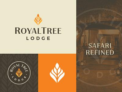 Royal Tree Lodge Brand branding design royal leaf africa safari lodge logodesign identity branding logo