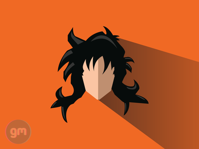 Flat art of Yamcha from Dragonball Z - Saiyan Saga