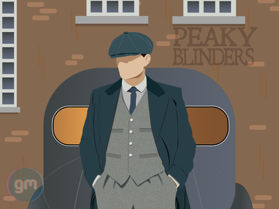 Flat art of Tomas Shelby fro Peaky blinders