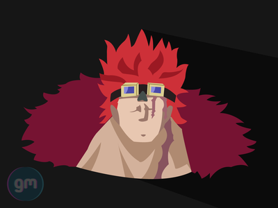 Flat art of Captain Kid from One Piece