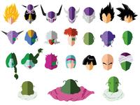Flat art of all characters from Dragonball Z - Frieza Saga