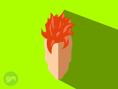Flat art of Android 16 from Dragonball Z - Cell Saga