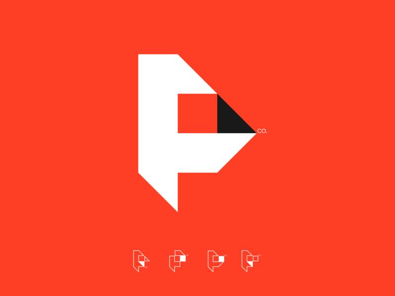 P.F.C. icon symbol monogram branding sign mobile fintech logo