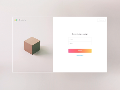 Login screen form registre login delivery party gift balloon gif animated uidesign motion 3d ui website product design uiux interface animation