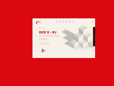Dcex home page interaction ui  ux red event uidesign daily ui design ui design website product design ui uiux interface animation
